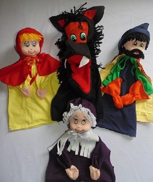 Brinquedo Educativo Conjunto de Fantoches Chapeuzinho Vermelho
