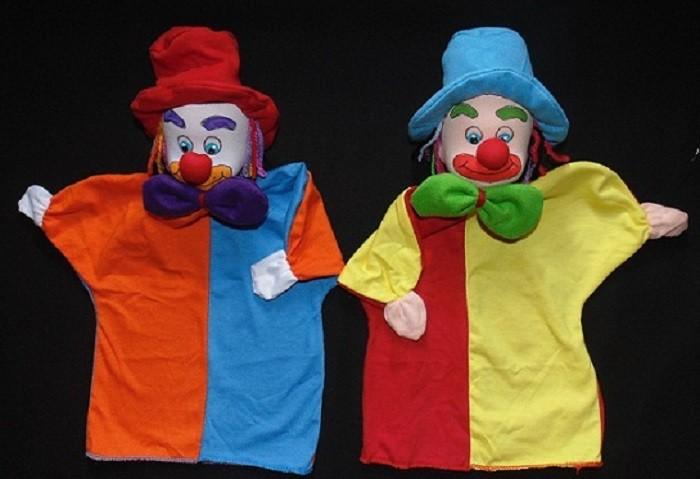 Brinquedo Educativo Conjunto de Fantoches Palhaços