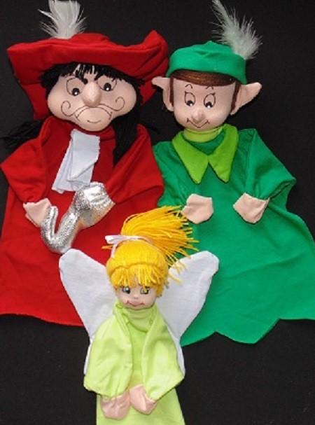 Brinquedo Educativo Conjunto de Fantoches Peter Pan