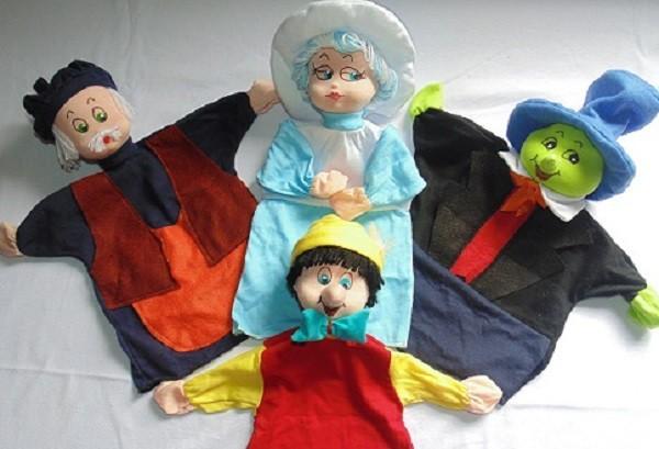 Brinquedo Educativo Conjunto de Fantoches Pinóquio