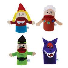 Brinquedo Educativo Conjunto Fantoche de Mão Chapeuzinho Vermelho