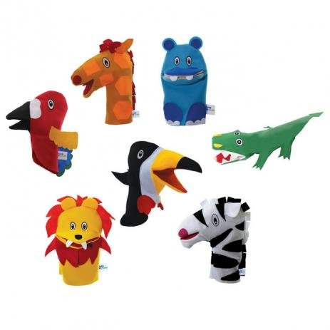 Brinquedo Educativo Conjunto Fantoches Animais Selvagens