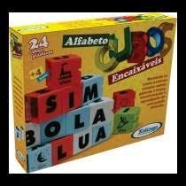 Cubos Encaixáveis Alfabeto Brinquedo Educativo