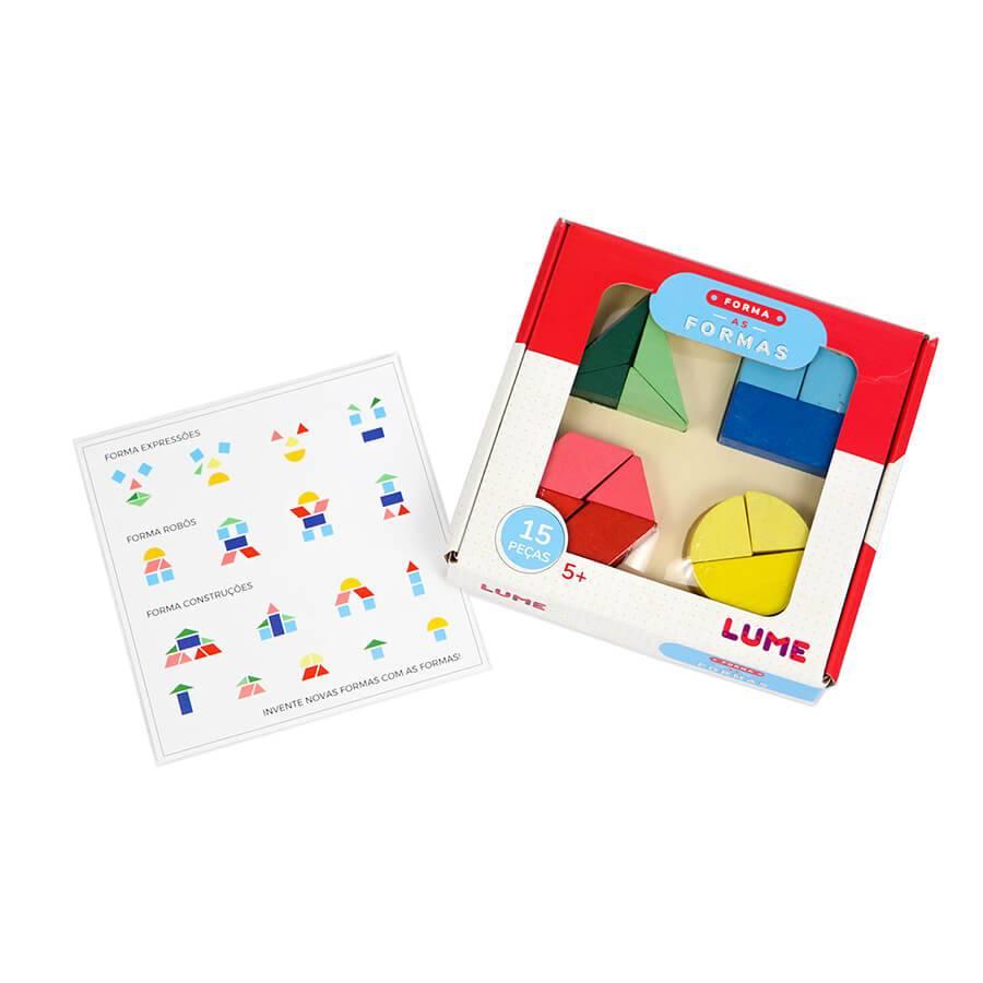 Forma as Formas Brinquedo Educativo de Madeira