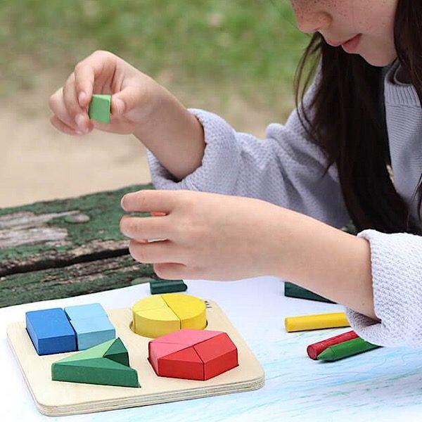 Brinquedo Educativo de Encaixar de Madeira Forma as Formas