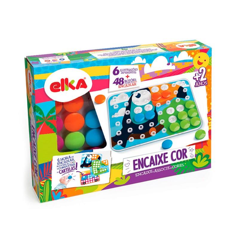 Brinquedo Educativo de Encaixar Encaixe Cor Elka