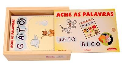 Ache as Palavras Brinquedo Educativo de Madeira