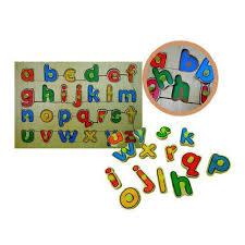 Alfabeto Com Pinos Brinquedo Educativo de Madeira