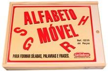 Brinquedo Educativo de Madeira Alfabeto Móvel