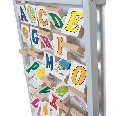 Brinquedo Educativo de Madeira Alfanumérico Giratório