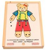 Brinquedo Educativo de madeira Alinhavo Caixa Modelo Urso