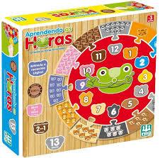 Brinquedo Educativo de Madeira Aprendendo as Horas Nig