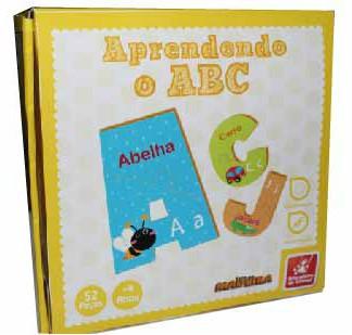 Brinquedo Educativo de Madeira Aprendendo o ABC
