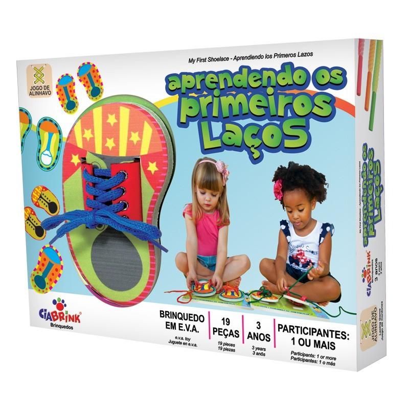 Brinquedo Educativo de Madeira Aprendendo os Primeiros Laços