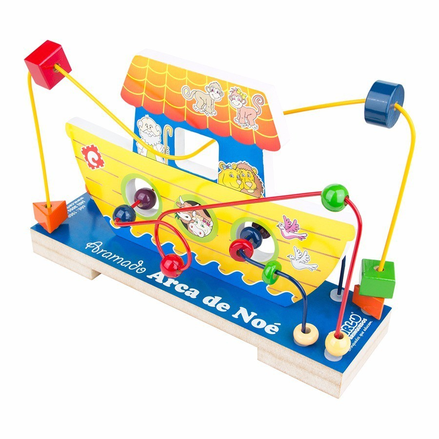Aramado Arca de Noé Brinquedo Educativo de Madeira