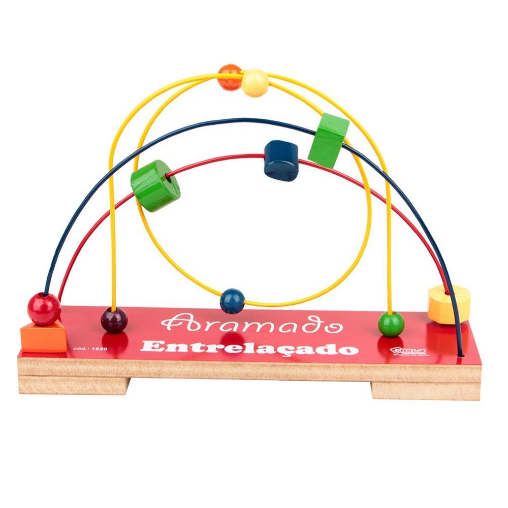 Brinquedo Educativo de Madeira Aramado Entrelaçado