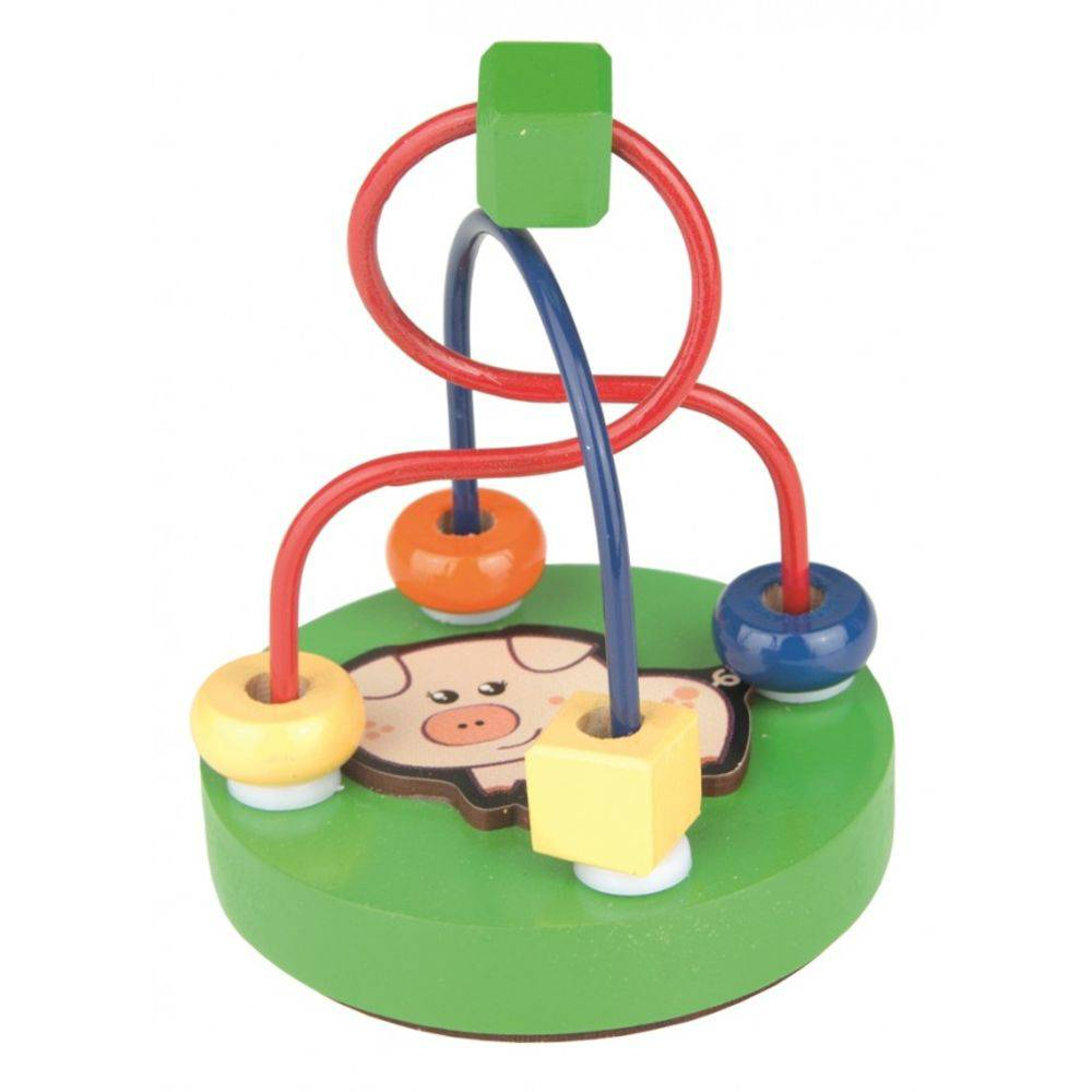 Brinquedo Educativo de Madeira Aramado Mini Porco