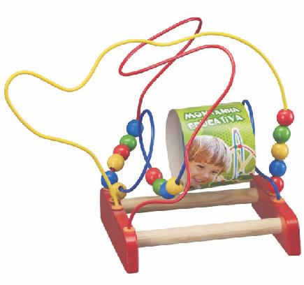 Brinquedo Educativo de Madeira Aramado Montanha Pedagógica Elefantinho