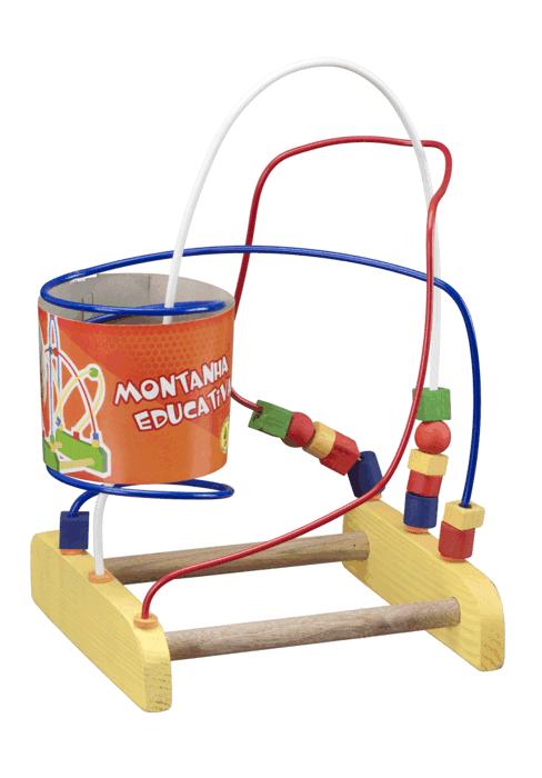 Brinquedo Educativo de Madeira Aramado Montanha Pedagógica Tradicional