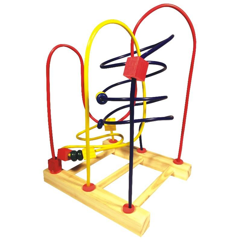 Brinquedo Educativo de Madeira Aramado Montanha Russa