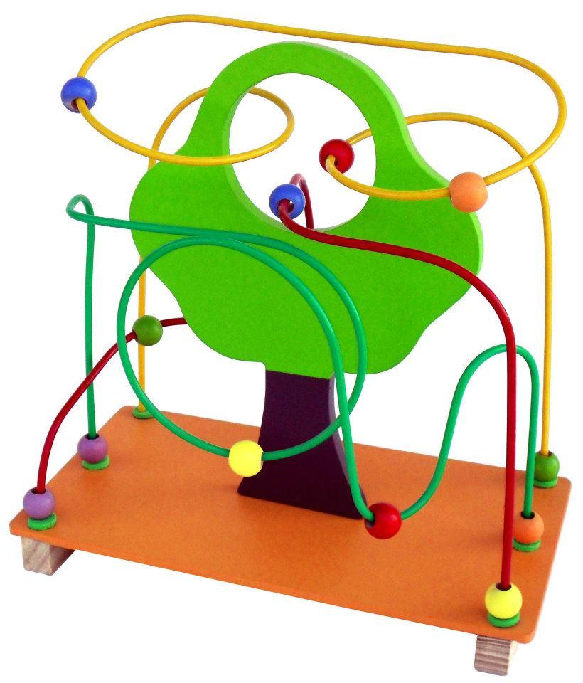 Brinquedo Educativo de Madeira Aramado  Montanha Russa Árvore