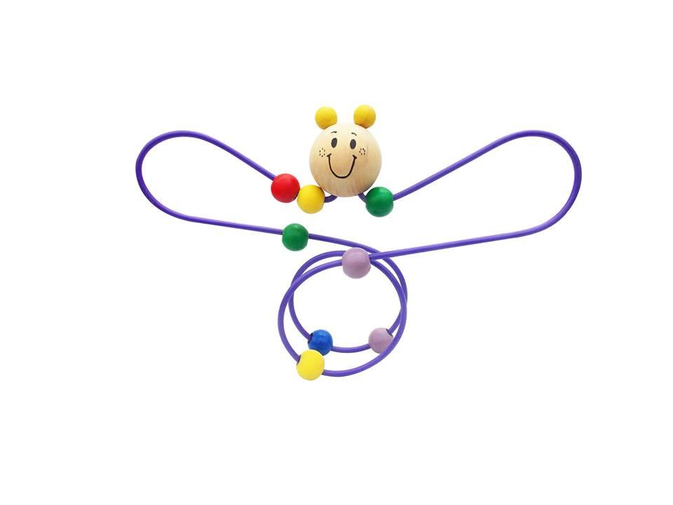 Brinquedo Educativo de Madeira Aramado Montanha Russa Borboleta