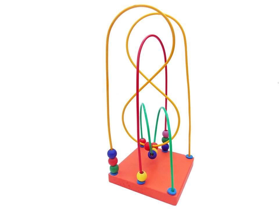 Brinquedo Educativo de Madeira Aramado Montanha Russa Oito