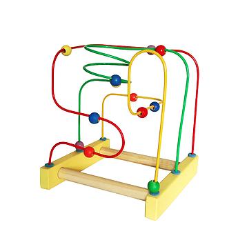 Brinquedo Educativo de Madeira Aramado Montanha Russa Tradicional