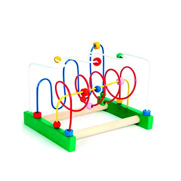 Brinquedo Educativo de Madeira Aramado Montanha Russa Zig Zag