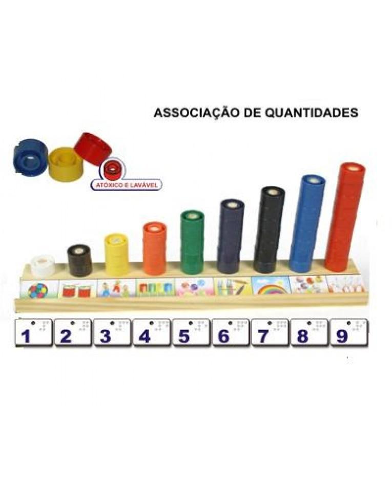 Associação de Quantidades Brinquedo Educativo de Madeira