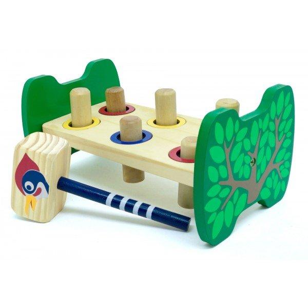 Brinquedo Educativo de Madeira Bate Bancadinha