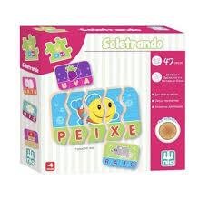 Be a Bá Soletrando 47 peças Brinquedo Educativo de Madeira