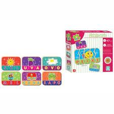 Brinquedo Educativo de Madeira Be a Bá Soletrando 47 peças