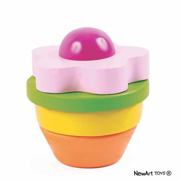 Brinquedo Educativo de Madeira Blocos de Montar Flor
