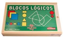 Blocos Lógicos Brinquedo Educativo de Madeira