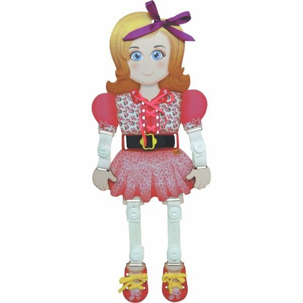 Boneca Sofia Brinquedo Educativo de Madeira