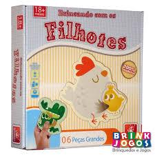 Brinquedo Educativo de Madeira Brincando com os Filhotes