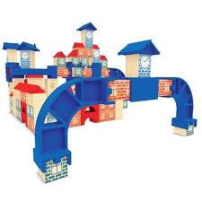 Brinquedo Educativo de Madeira Brincando de Engenheiro Cidade do Futuro Xalingo