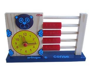 Brinquedo Educativo de Madeira Brinque e Conte