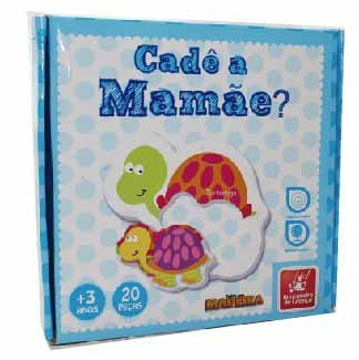 Cadê a Mamãe? Brinquedo Educativo de Madeira