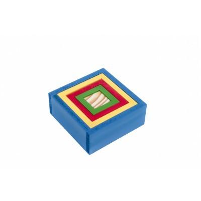 Brinquedo Educativo de Madeira Caixas Coloridas