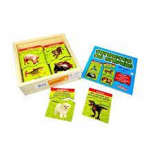 Brinquedo Educativo de Madeira Conhecer os Animais Quebra Cabeça
