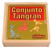 Brinquedo Educativo de Madeira Conjunto Tangram