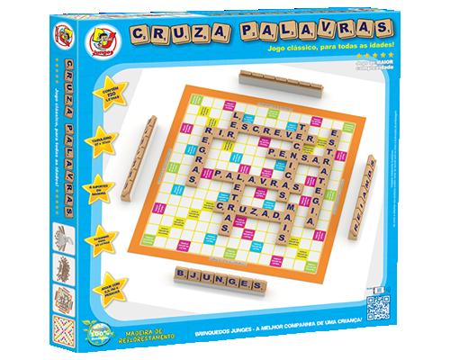Brinquedo Educativo de Madeira Cruza Palavras