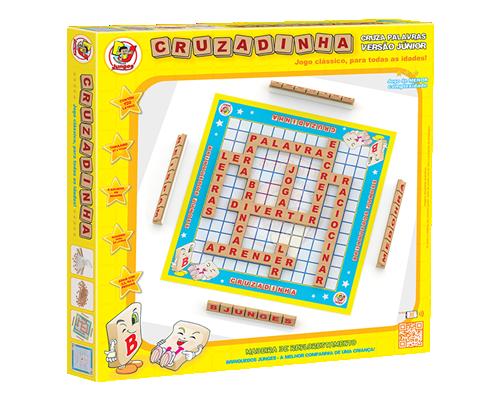 Brinquedo Educativo de Madeira Cruzadinhas Versão Junior