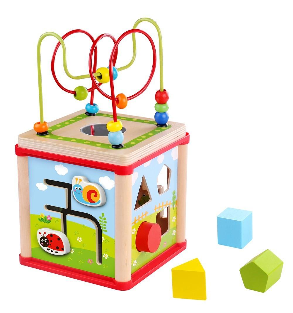 Brinquedo Educativo de Madeira Cubo Mágico Médio