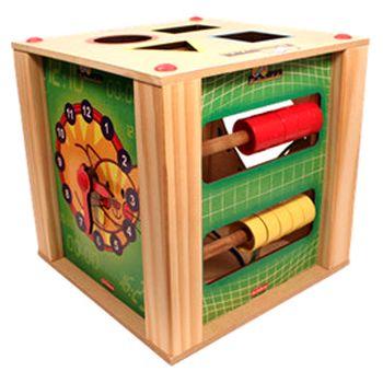 Cubo Multiatividades Brinquedo Educativo de Madeira