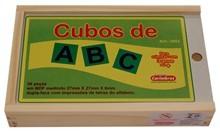 Brinquedo Educativo de Madeira Cubos de ABC