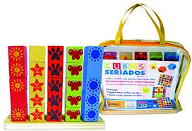 Brinquedo Educativo de Madeira Cubos Seriados