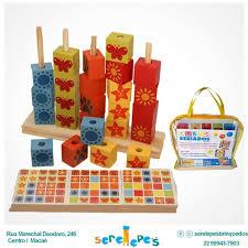 Cubos Seriados Brinquedo Educativo de Madeira